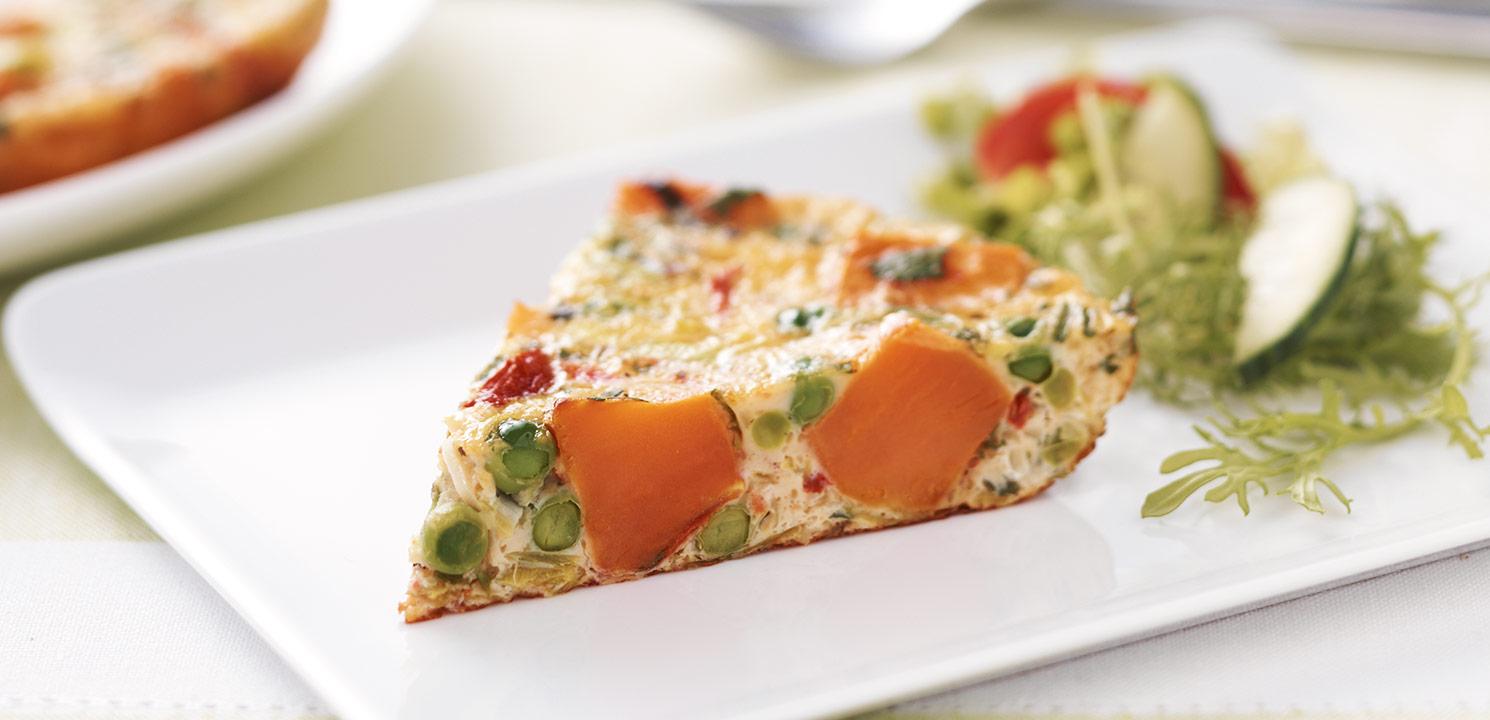 Roasted Sweet Potato & Pea Frittata